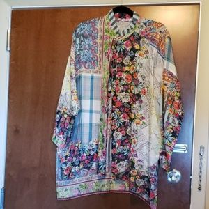 Johnny Was Silk tunic blouse